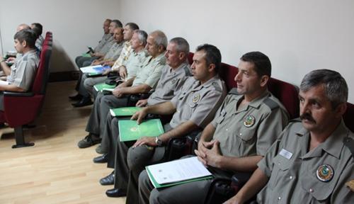 Orman muhafaza memurlarına eğitim