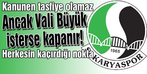 Sakaryaspor'da tasfiye gerçeği!