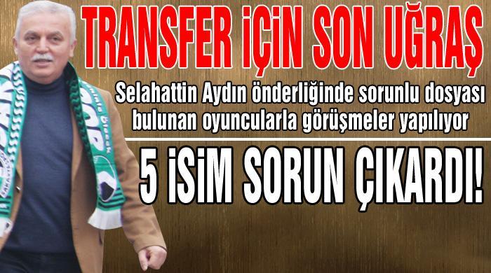 Sakaryaspor'da transfer harekatı!