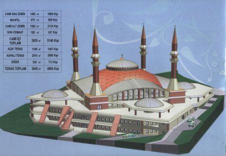 10 Bin kişilik caminin temeli atılıyor