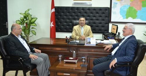 Başkan Ak'tan Kaymakam Şahin'e ziyaret