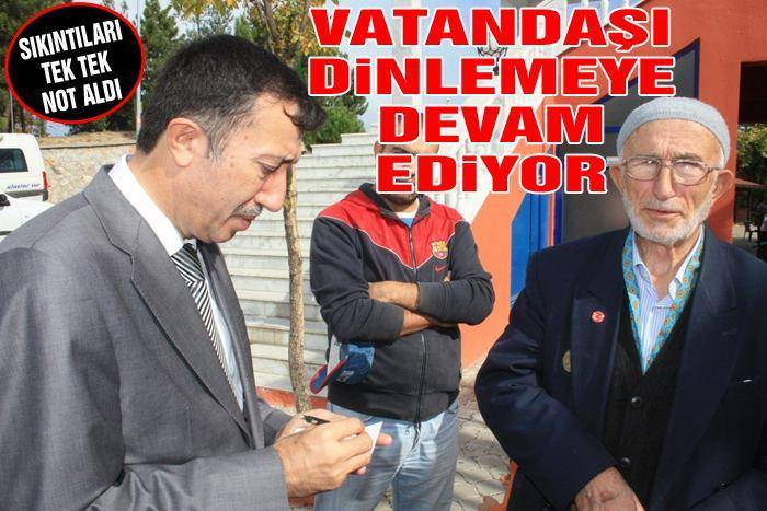 Milletvekili Çelik Yenikent'te