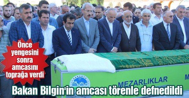 Bakan Bilgin'in amcası törenle defnedildi