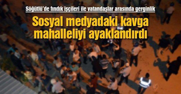 Söğütlü'de fındık işçileri ile vatandaşlar arasında gerginlik