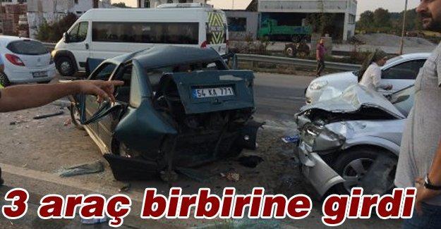 Zincirleme trafik kazasında 4 kişi yaralandı