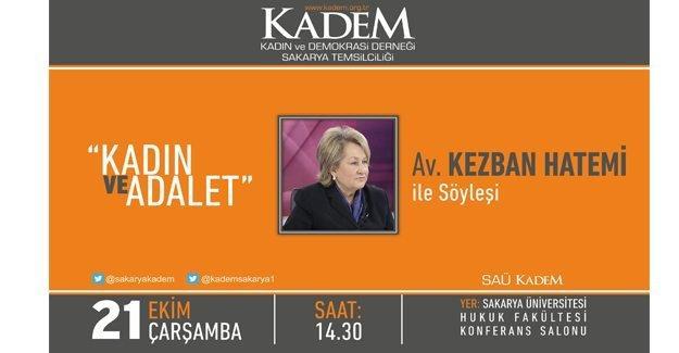 KADEM 'Kadın ve Adalet' söyleşisi düzenleyecek