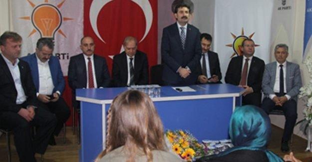 Ak Partili vekiller Söğütlü'ye teşekkür ziyaretinde bulundu