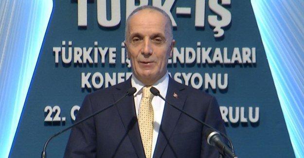 Türk-iş'te Ergün Atalay yeniden başkan