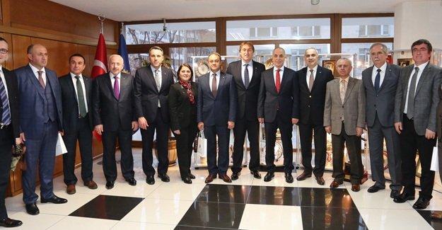 SATSO heyetinden Ergun Atalay'a ziyaret