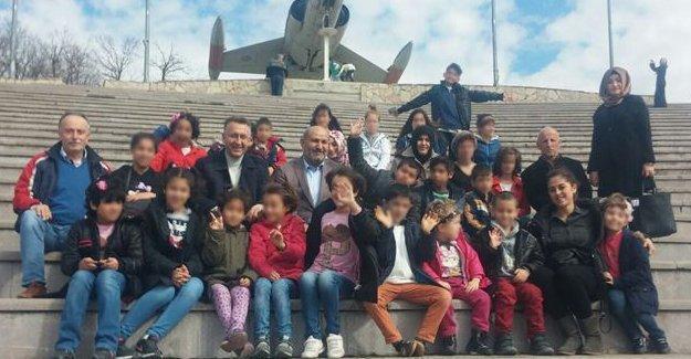 Bayraktepe'yi gezip eğlenceli bir gün geçirdiler