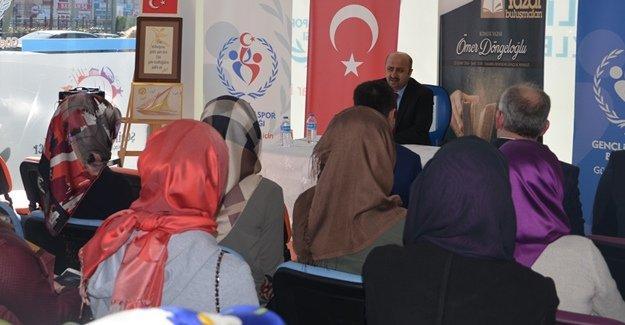 """""""Gençlerle Hasbihal"""" Ömer Döngeloğlu'nu misafir etti"""