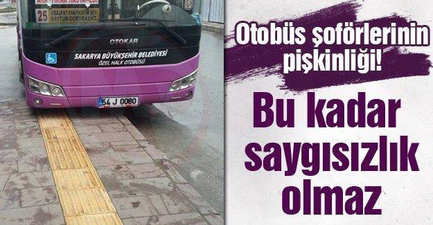 Otobüs şoförlerinin pişkinliği
