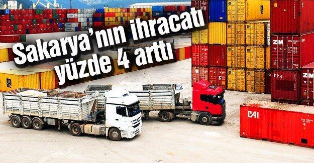 Sakarya'nın ihracatı yüzde 4 arttı