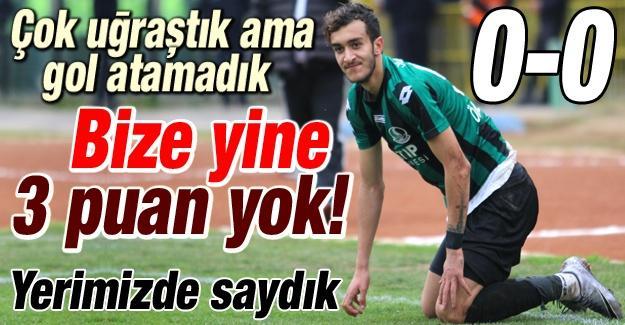 Sakaryaspor Bursa'dan 1 puanla dönüyor