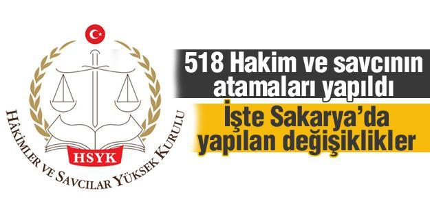 518 Hakim ve savcının atamaları yapıldı