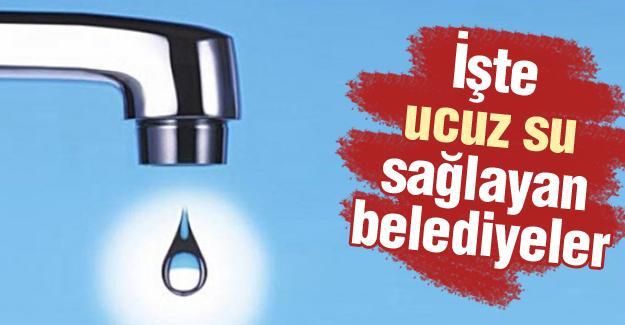 Türkiye'de en ucuz suyu Antalya sağlıyor