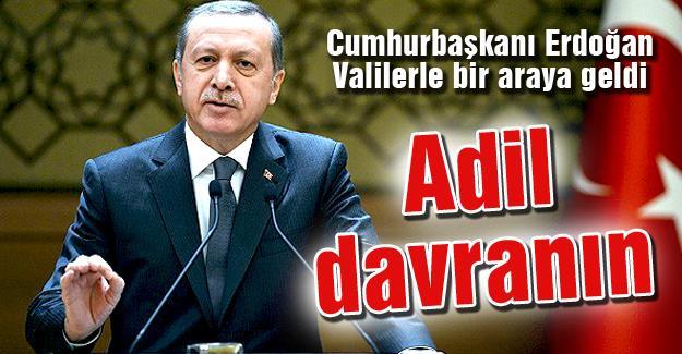Cumhurbaşkanı Erdoğan Valilerle bir araya geldi