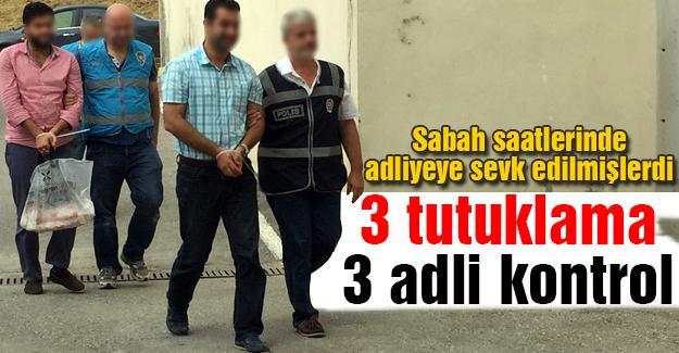 FETÖ operasyonların 3 tutuklama, 3 adli kontrol
