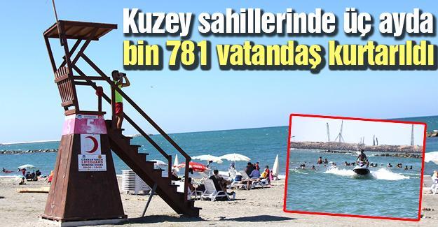 Kuzey sahillerinde üç ayda bin 781 vatandaş kurtarıldı