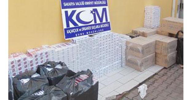 134 bin paket sigara ele geçirildi