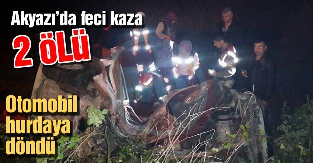 Akyazı'da feci kaza: 2 ölü