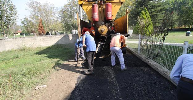 Balballı Mahallesinde asfalt çalışmaları başladı