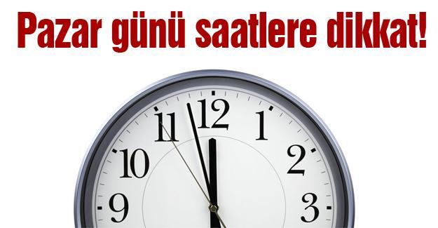 Saatler ileri alınmayacak ama…