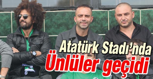 Atatürk Stadı'na ünlü yağdı!