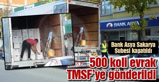 Bank Asya Sakarya Şubesi kapatıldı
