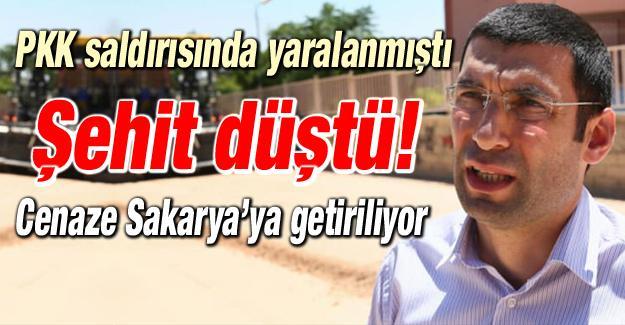 PKK saldırısında şehit düştü!
