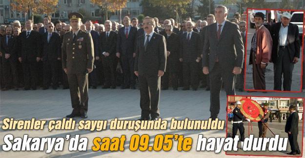 Sakarya'da 10 Kasım anma töreni