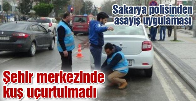 Sakarya polisinden asayiş uygulaması