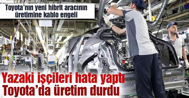 Toyota'nın yeni hibrit aracının üretimine kablo engeli