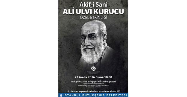 Ali Ulvi Kurucu 23 Aralık günü anılıyor