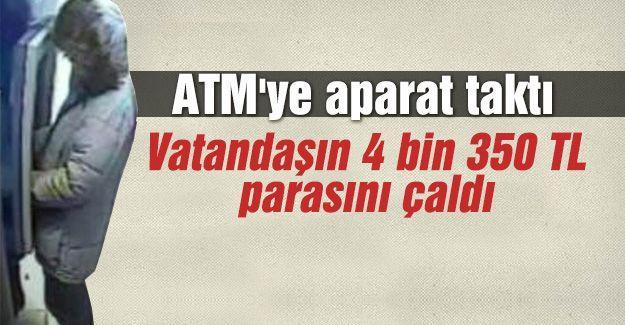 ATM'ye aparat takıp vatandaşı dolandırdı