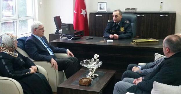 Başkan Ak ve yönetimi İlçe Emniyet Müdürünü ziyaret etti