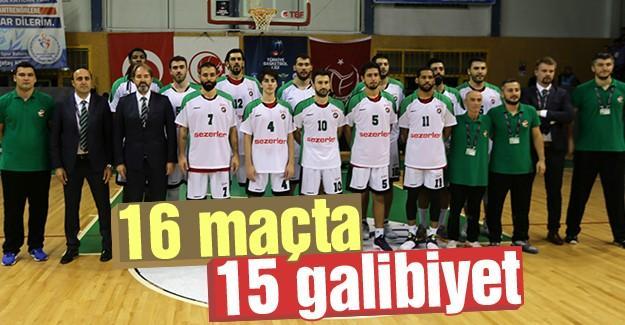 Büyükşehir Basket ilk yarıyı lider kapattı