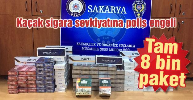 Kaçak sigara sevkiyatına polis engeli