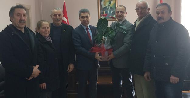 CHP Arifiye heyetinden Kaymakam Yazıcı'ya ziyaret