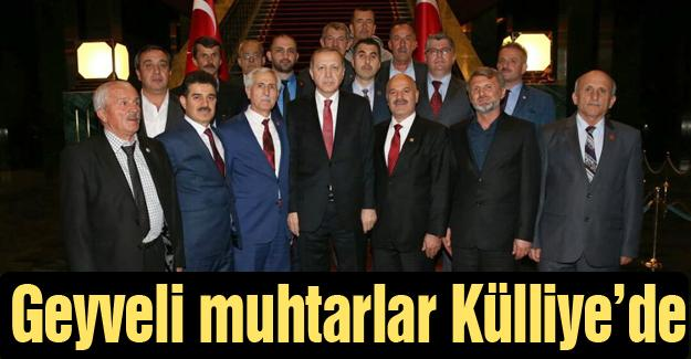 Cumhurbaşkanı Erdoğan ile bir araya geldiler