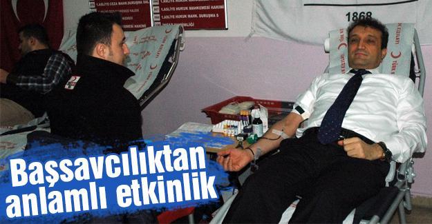 Cumhuriyet Başsavcısı Ercan'dan bağışında bulundu
