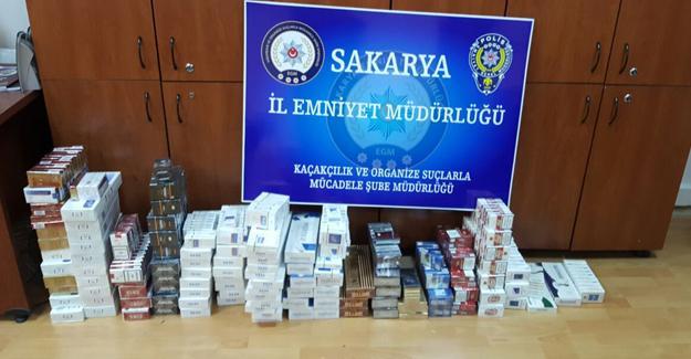 İki ayrı iş yerinde  bin 600 paket kaçak sigara ele geçirildi