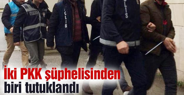 İki PKK şüphelisinden biri tutuklandı