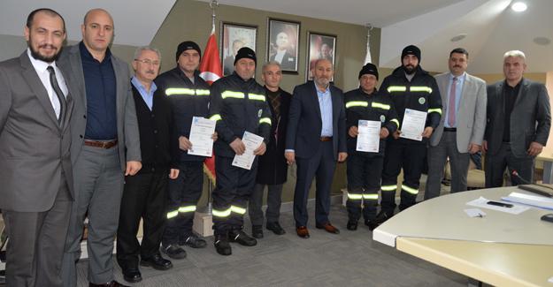 İşçiler Mesleki Yeterlilik belgelerini aldı