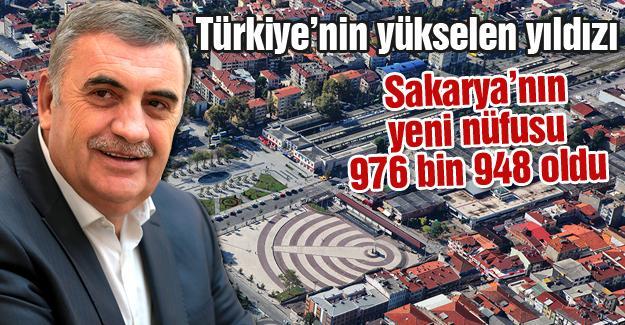 Sakarya'nın yeni nüfusu 976 bin 948 oldu