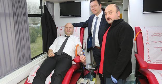 SATSO üyelerinden kan bağışı