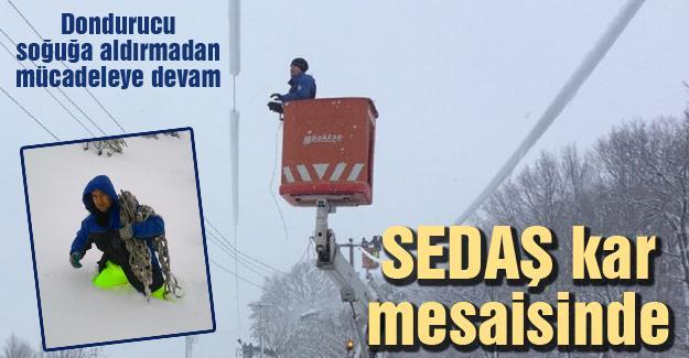 SEDAŞ kar mesaisinde