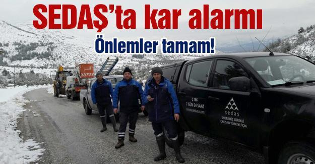 SEDAŞ'ta kar alarmı