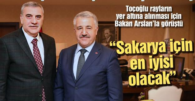 Toçoğlu Bakan Arslan'la görüştü
