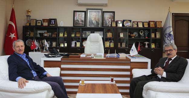 Yeni Kaymakam Çelikkaya'dan Başkan Dişli'ye ziyaret
